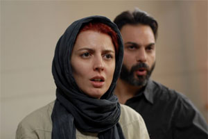 Still of Leila Hatami and Peyman Moadi in A Separation